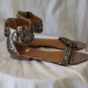 Kelsi Dagger Kylene Studded Sandals Flats Shoes